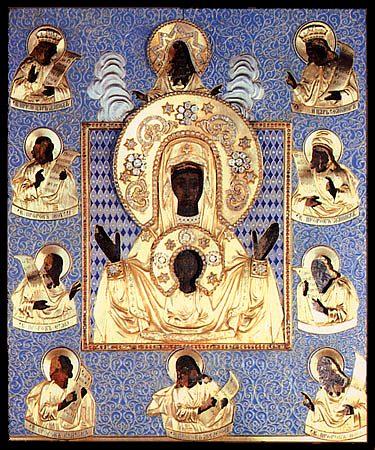 Курская-Коренная икона Божией Матери в окладе